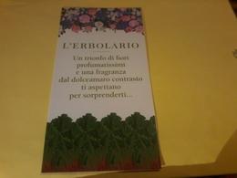 Carte L Erbolario Presentation Danza Di Fiori Rabarbaro - Cartes Parfumées