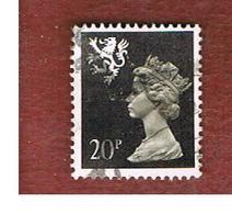GRAN BRETAGNA (UNITED KINGDOM) - SG S64 REGIONAL ISSUES - 1989 SCOTLAND: QUEEN ELIZABETH 20 BLACK - USED° - Regionali