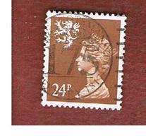 GRAN BRETAGNA (UNITED KINGDOM) - SG S69 REGIONAL ISSUES - 1989 SCOTLAND: QUEEN ELIZABETH 4 BROWN - USED° - Regionali