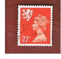 GRAN BRETAGNA (UNITED KINGDOM) - SG S66 REGIONAL ISSUES - 1990 SCOTLAND: QUEEN ELIZABETH 22 RED    - USED° - Regionali