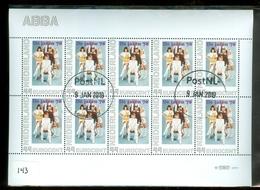 NEDERLAND * ABBA * MUZIEK * MUSIC *  BLOK * BLOC * BLOCK Van 10 * NETHERLANDS * POSTFRIS GESTEMPELD (143) - Periode 2013-... (Willem-Alexander)