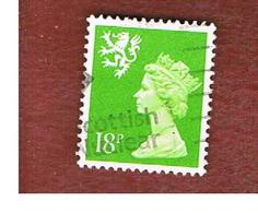GRAN BRETAGNA (UNITED KINGDOM) - SG S60 REGIONAL ISSUES - 1991 SCOTLAND: QUEEN ELIZABETH 18 GREEN    - USED° - Regionali