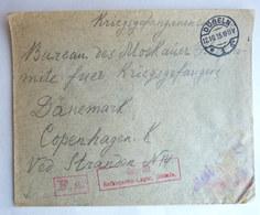 LETTRE DE PRISONNIER DE GUERRE Döblen AVEC CACHETS DE CENSURE A DESTINATION DE COPENHAGUE - WW1