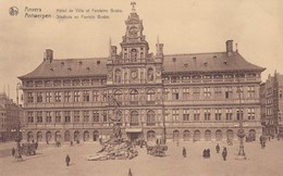 CARTOLINA - POSTCARD - BELGIO - ANVERS - HOTEL DE VILLE ET FONTALNE BRABO - Antwerpen