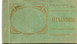 93Maj   Egypte Alexandria Carnet De 7/12 Cpa - Alexandria