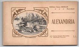 93Maj   Egypte Alexandria Carnet Complet De 12 Cpa - Alexandria
