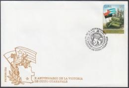 1998-FDC-63 CUBA FDC 1998 X ANIV VICTORIA DE CUITO CUANAVALE, ANGOLA WAR TANK. - FDC