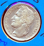 BELGIE LEOPOLD I   1 FRANC  1833  TOP   PRACHTIGE STAAT  4 SCANS - 1831-1865: Léopold I