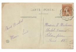 Cachet Convoyeur / Ambulant De La Savoie. La Rochette à Pontcharra 1928. Cpa Pliée Verticalement Au Centre (A8p26) - Marcophilie (Lettres)