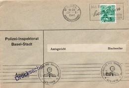 Basel Polizei 1941 - Geprüft Wehrmacht - Censure Pour Bischweiler - Censor - Suisse