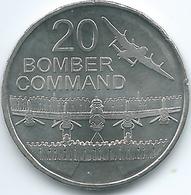 Australia - Elizabeth II - 20 Cents - 2016 - Bomber Command - Decimal Coinage (1966-...)