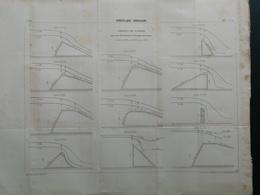 ANNALES PONTS Et CHAUSSEES (Dep 76) Plan Des Deservoirs Hydraulique De Nappes Imp L.Courtier 1898 (CLB01) - Nautical Charts