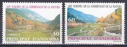 Andorra Spanisch Spain 1995 Europäisches Naturschutzjahr Naturschutz Conservation Landschaften Landscapes, Mi. 241-2 ** - Spanisch Andorra