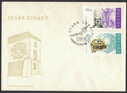 AP71  Poland Pologne, Old Clocks, Clock. FDC 1988 - Orologeria