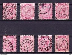 België 1883 Nr 38 Varia Nuance En Stempels,zeer Mooi Lot Krt 3479, KOOPJE ,   Zie Ook Andere Mooie Loten - Collections (sans Albums)