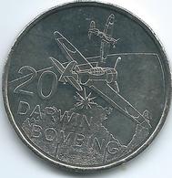 Australia - Elizabeth II - 20 Cents - 2016 - Darwin Bombing - Decimal Coinage (1966-...)