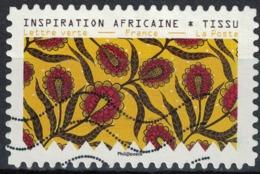 France 2019 Oblitéré Used Tissus Motifs Nature Inspiration Africaine Timbre 12 - Frankreich