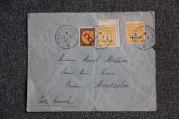 """Cachet Poste Navale - Timbre Sur Lettre Vers Bâtiment De Ligne """" MONTCALM"""" . - Covers & Documents"""