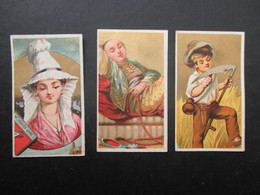 LOT 3 CHROMOS (V1905) GRANDS MAGASINS LE DIABLE D'ARGENT (2 Vues) Rue Haute, 29 Et 31 Bruxelles - Confections Dames - Sigarette