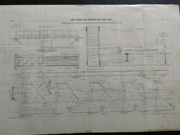 ANNALES PONTS Et CHAUSSEES  Plan De Joint Flexible Pour Charpentes Métalliques Imp L.Courtier 1898 (CLB02) - Architecture