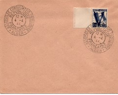 Assemblée Consultative Provisoire - Alger 04.04.1944 - Parlement - Numéro Quatre !! - Marcophilie (Lettres)