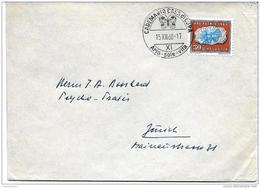 """100 - 54 - Enveloppe Suisse Avec Oblit Illustrée Cademario 1960 Illustration """"papillon"""" - Papillons"""
