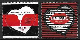 France 2018 N° 5198/5199 Neufs St Valentin Sonia Rykiel Faciale +10% - France