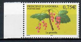 ANDORRA  FRANCESE 2003 - FRUTTA RIBES - MNH ** - Andorra Francese