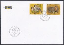 Island Iceland 1995 Europäisches Naturschutzjahr Naturschutz Conservation Tiere Fauna Animals Vögel Birds, Mi. 833-4 FDC - 1944-... Republik