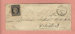 Lettre De PONTOISE SEINE ET OISE Avec N° 3 16 JANVIER 1849 - Poststempel (Briefe)