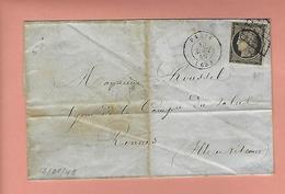 Lettre De PARIS Avec N°3 13 Août 1849 - Poststempel (Briefe)