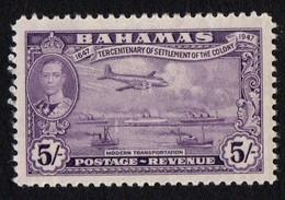 Bahamas. 1938 -1948 King George V. 5 Sh. SG 191. Sc 145. MLH - 1859-1963 Kronenkolonie