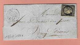 Lettre De MARSEILLE Avec N°3 17 AOUT 1849 - Poststempel (Briefe)