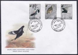 Lettland Latvia 1995 Europäisches Naturschutzjahr Naturschutz Conservation Tiere Animals Vögel Birds, Mi. 403-5 FDC - Lettland