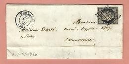 Lettre De TOULOUSE Avec N°3 30 MAI 1850 - 1849-1876: Période Classique
