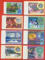 Kazakhstan . City Karaganda. Lot Of 8 Monthly Tickets. Plastic. - Season Ticket