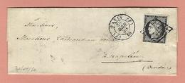 Lettre De PARIS Avec N°3 NOIR SUR BLANC 30 Avril 1850 - Poststempel (Briefe)