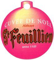 Belgium. St Feuillien. Abbaye. Cuvée De Noël. Anno 1125. Boule De Noël. Kerstbal. Christmas Tree Ball. - Sous-bocks