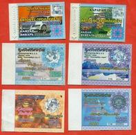 Kazakhstan . City Karaganda. Lot Of 6 Monthly Tickets. Plastic. - Season Ticket