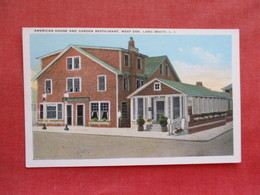 American House & Garden Restaurant West End  Long Beach     New York > Long Island  .  Ref 3277 - Long Island