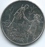 Australia - Elizabeth II - 20 Cents - 2016 - Korean War - Monnaie Décimale (1966-...)