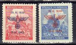 Böhmen Und Mähren 1942 Mi 83-84 ** [130419XXVI] - Occupation 1938-45