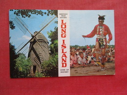 Greetings  Windmill & Indian   New York > Long Island  .  Ref 3277 - Indiens De L'Amerique Du Nord