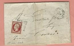 Lettre SAINTE FOY LA GRANDE Avec N° 17 - Poststempel (Briefe)