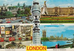 Modern Postcard Of Four Views Of London (21218) - London