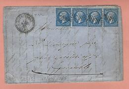 Lettre De PONTCHARRA ISERE Avec N° 22 X4 (2 Paires) - Poststempel (Briefe)