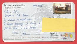 Carte Timbrée ILE MAURICE  ( Mauritus Rs 14  ) Port Louis Voir Photo - Maurice (1968-...)