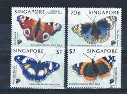 Singapore 903-06 MNH Set Butterflies 1999 CV 6.35 (S1138)+ - Singapore (1959-...)