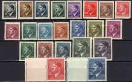 Böhmen Und Mähren 1942 Mi 89-110 ** (Mi 109-110 LW) [130419XXVI] - Occupation 1938-45