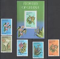 WW905 GHANA NATURE FLORA FLOWERS OF GHANA #1054-59 MICHEL 13,9 EURO 1SET+1BL MNH - Végétaux